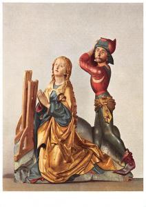 Oberschwaben, Die Enthauptung der Heiligen katharina Postcard