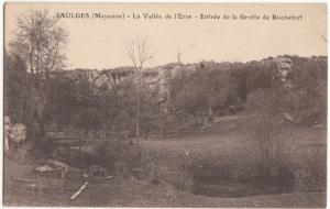 France, SAULGES, La Vallee de l'Evre, Entree de la Grotte de Rochefort, Postcard