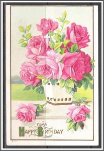 For A Happy Birthday - Roses - Embossed - [MX-192]