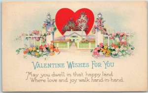 Vintage 1910s VALENTINE'S DAY Greetings Postcard STECHER 1503D Unused