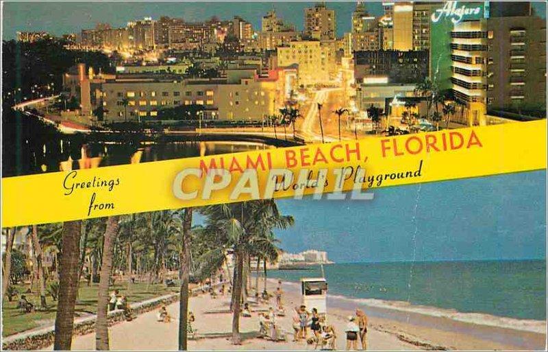 Modern Postcard Miami Beach Florida World's Playground