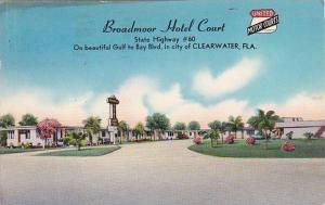 Florida Clearwater Broadmoor Hotel Court 1957