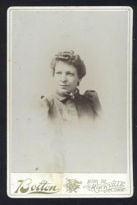 ROCKVILLE CONNECTICUT REAL PHOTO MOUNTED PHOTOGRAPH 1890's EMILY DUNN GIRL