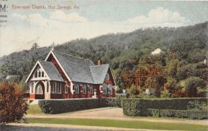 C77/ Hot Springs Virginia Va Postcard 1912 Episcopal Church Building