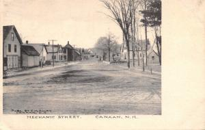 Canaan New Hampshire~Mechanic Street~Houses Both Sides~Dirt Road~1910 B&W PC