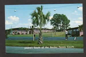 SC Pedro's Tennis Courts Border SOUTH CAROLINA Postcard