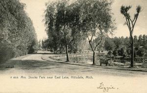 MI - Hillsdale. Mrs Stocks Park near East Lake