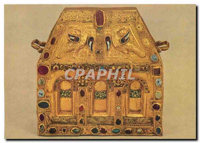 Postcard Modern Conques Basilica Reliquary of Pepin