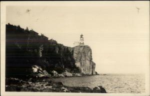 North Shore Lake Superior Lighthouse c1920s-30s Real Photo Postcard