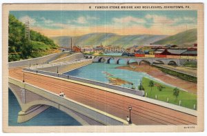 Johnstown, Pa, Famous Stone Bridge And Boulevard
