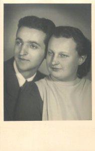 Romania social history Couple picture Brasov Postcard