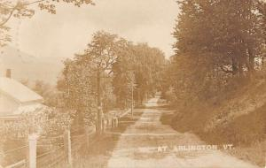 Arlington Vermont Street Scene Real Photo Antique Postcard K40596