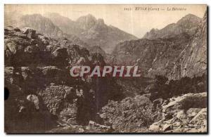 Old Postcard The Belvedere Corsica Evisa