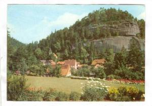 Bird's Eye View, Kurort Oybin, Berg Oybin, Saxony, Germany, 50-70s