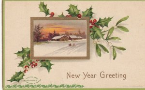 CLAPSADDLE ; New Year Greeting , 1909