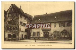 Old Postcard Colmar Commissioner of Pollce