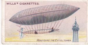 Cigarette Cards Wills AVIATION No 8 Rounding the Eiffel Tower, Santos Dumont