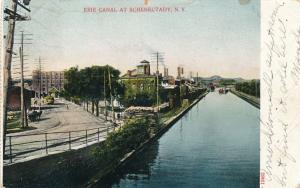 View of Erie Canal at Schenectady NY, New York - pm 1906 - UDB