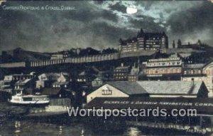 Chateau Frontenac & Citadel Quebec Canada 1906