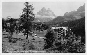 Misurina Italy Tre Cime di Lavaredo Real Photo Antique Postcard J45718