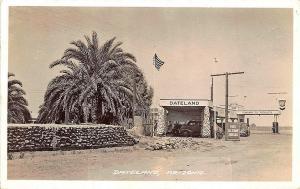 Dateland AZ Chevron Gas Station Gas Pumps RPPC Postcard