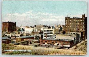 Minneapolis Minnesota~Business District Birdseye View~Northern Machinery Co~1914
