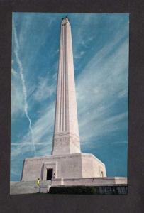 TX San Jacinto Museum Monument Mexican War Battlefield nr Houston Texas Postcard