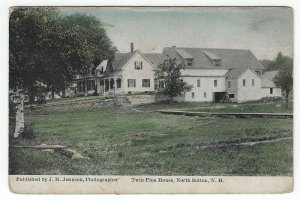 North Sutton, New Hampshire, Vintage Postcard View of Twin Pine House