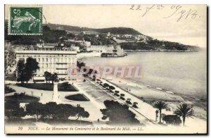 Postcard Old Nice Monument Centennial and the Boulevard du Midi