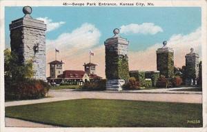 Missouri Kansas City Swope Park Entrance 1933
