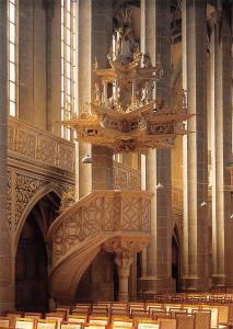 Halle Saale Marktkirche Kanzel aus der Werkstatt Nickel Hofmanns