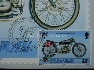 TT Races 1939 SUPERCHARGED BMW St John Ambulance PC 1987 1st Day Issue