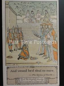 c1915 RHYME The Queen of Hearts from Original R. Caldecott 160515
