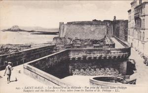SAINT MALO, Ille Et Vilaine, France, 1900-1910's; Ramparts And The Hollande, ...