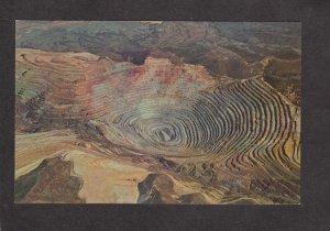 UT Bingham Copper Mine Mining Minerals Salt Lake City Utah Postcard Oquirrh MTN