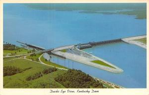 Kentucky~Ducks Eye View Kentucky Dam Kentucky Lake~1920 Postcard