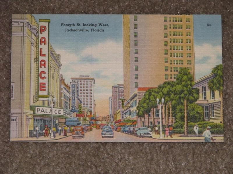 Forsyth St. Looking West (Showing Palace Theatre), Jacksonville Fl.