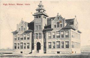 H83/ Weiser Idaho Postcard c1910 High School Building  59