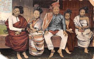 Mindanao Philippines Moro Dalto and wifes, Camp Vicars Mindanao Moro Dalto an...
