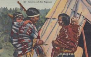 North Country Indian Squaws and Their Papooses Curteich
