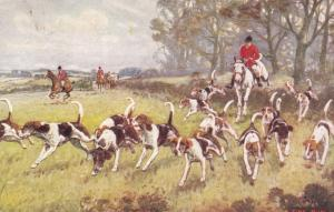 Fox Hunting , A Fine Run , PU-1910 ; TUCK