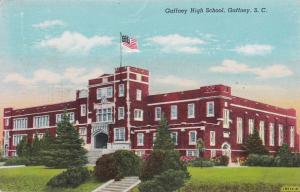 GAFFNEY, South Carolina , PU-1945; Gaffney High School