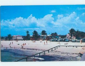 Unused Pre-1980 BEACH SCENE Fort Myers Florida FL G5522