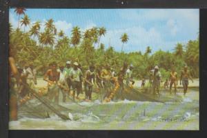 Seine Fishing,East Coast Trinidad Postcard