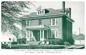 Virginia Richmond  , Tourist Rest , Hotel ,  2912 Chamberlayne Ave