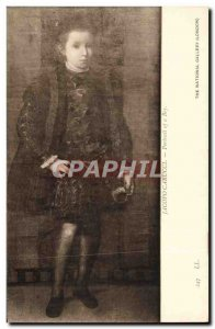 Old Postcard Jacopo Carucci Portrait of a Bey The National Gallery London