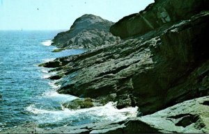 Maine Boothbay Area Monhegan Island Rocks and Cliffs On North Side