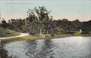Iowa Des Moines Scene In Greenwood Park 1910