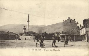 greece, FLORINA, Place du Marché, Mosque (1918)
