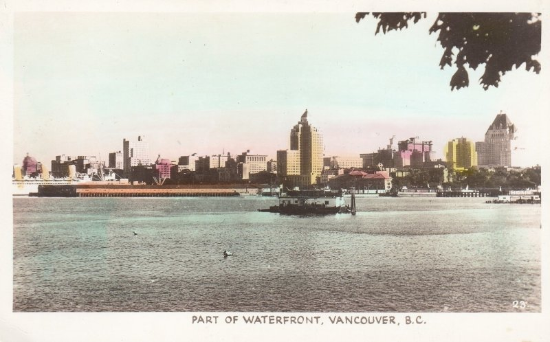 RP: VANCOUVER , B.C. , Canada , 1930s ; Waterfront